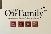 OUR FAMILY QUOTE WALL STICKERS IDEAL PRESENT  WALL ART DECAL HOME DECOR MURAL