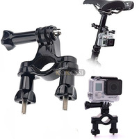 360 Degree Rotation Handle Bar Bike Seatpost Pole Holder Mount for GoPro HD Hero 3 3+ 4 Camera Accessories