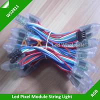 50Pcs/Lots 12mm WS2811 IC Waterproof IP67 Full Color RGB Pixel String Led Module DC5V Input