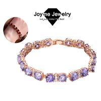 Joyme 2014 new Top Quality Vintage Luxury Round Gem Stone Swiss Crystal Zirconia Bracelets for women Bracelet & Bangle BR0017
