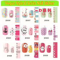 2015 New Arrival (30pcs/lot) Pregnant Women Kids Can Use Ultra-thin Cute Pattern Nail Art Stickers DIY Accessories D1001-1042