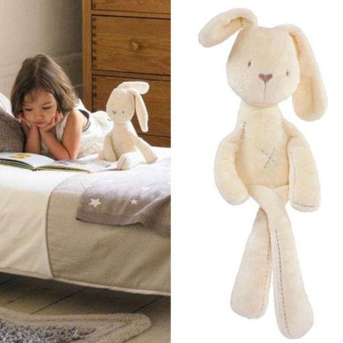 54*11CM Cute Baby Kids Animal Rabbit Sleeping Comfort Doll Plush Toy(China (Mainland))