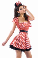 sexy lingerie 2014 Naughty Mouse Cosplay Party costumes for women sexy female fantasy Polka Dot Short Dress
