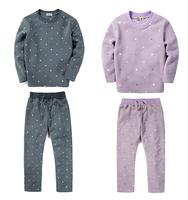 Autumn Children Pajamas Set Casual Dot Fleece Kids Pijamas Infantil Winter Boys Girls Full Sleeve Sleepwear Nightwear EPS-001