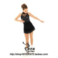 Professional custom figure skating dress figure skating costumes children clothing adult female Skating Skirt HBF1019