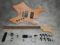 DIY Electric Guitar Kit Mahogany Body Maple Neck Rosewood Fingerboard