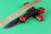 6pcs/lot New MOdel Cold Steel 216 Steel+ Aluminium Handle 7CR17 57Hrc blade Folding Pocket Tactical knife Best Gift Wholesale