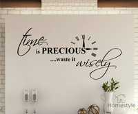 TIME IS PRECIOUS WALL QUOTES  STICKERS WALL ART DECALS  Home decoration mural