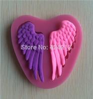 New & Hot Beautiful Angel Wings  Modelling Fondant Decoration Mold Silicone Cake Chocolate Mold  -P116