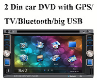 "universal 2 Din 6.2"" inch Car DVD player with GPS Navigation, audio Radio stereo,USB/SD,BT/TV,800*480,AUX in,touch screen"