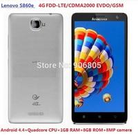 Lenovo S860E GSM+CDMA EVDO 4G LTE FDD LTE Android smart phone dual sim dual standby quadcore 1GB+4GB CDMA 2000 1X