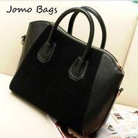 HOT ! Fashion bags 2014 women's nubuck leather patchwork handbag smiley bag shoulder bag women's bags lady messenger tote z3214
