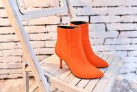2014 hot sale autumn high heel women shoes Ankle boots zipper  classic women boots  gray orange pumps szie35-39 free shipping
