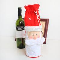 whole sales,Christmas decorations adorn Santa Claus is a wine bottle bag Wine bottle cover