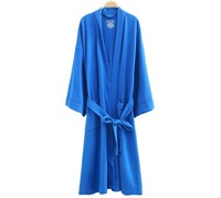 Free Shipping 2014  Newest Woman And Men Winter Bathrobe 100%Cotton Waffle Weave Plus Size Nightgowns