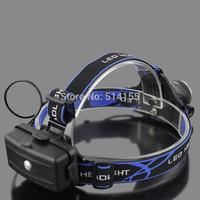 568B-T6 Aluminium alloy LED Glare Adjustable zoom head lamp Flashlight electric torch Long shots Outdoor fishing head lamp