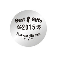 10pcs/lot 2014 New 22mm Christmas Best Gifts of 2015 Stainless Steel Plates Floating Charms For 30MM Glass Lockets