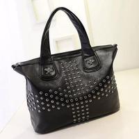 Black Rivet style women handbags designer Europe America fashion Cross-body shoulder bags women good quality messenger bags -8
