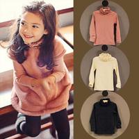 2014 autumn and winter baimuer the appendtiff laciness girls clothing turtleneck long-sleeve tx-4078 basic shirt