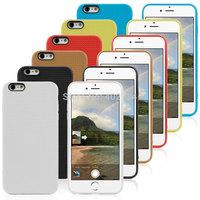 50pcs/lot Quality Mesh design Soft Gel TPU Cover Case For iPhone 6 5.5 iPhone6 Plus mobile phone accessories+50pcs screen flim