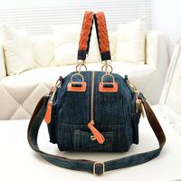 Factory direct sale Korean fashion denim handbags Women cross body  shoulder bag multi-function handbags
