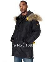 Real Fur Brand Winter Coat Kodiak Men Masterpiece Black Down Arctic Long Parka Man jacket Anorak Male Parkas Gobi Right Hand 903