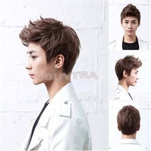 2014 New CR Popular 4 color Handsome Boys Wig Korean Fashion Men's Short False Hair Cosplay Wigs RC