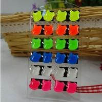 120pairs/lot, luminous mini stud earring,Wholesale very cute student stud earrings,12pairs/pack, Christmas gift, free shipping