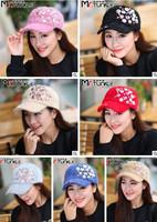 Women fashion skull rabbit fur hat