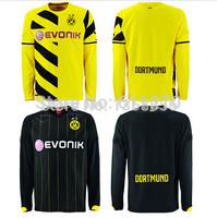 Free Shipping Borussia Dortmund Long sleeve Soccer Jerseys A+++Best thai quality Reus Hummels Customize Jerseys