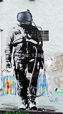 "Free shipping Banksy Graffiti -SPQR- Astronaut Shopping on Moon Street 24""x36"" Canvas Print(China (Mainland))"