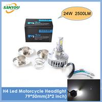 2014 New 1Pc 24W 2500LM 6000K 6~36V H4/PH7/PH11 Led Bike Lamp DRL Fog Light LED Motorcycle Headlight Bulb for KTM HONDA BMW