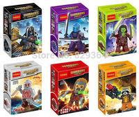 Decool Guardians of the Galaxy Star Lord Gamora Rocket Raccoon Groot minifigures Building block toys lego compatible 6pcs/lot
