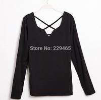 Autumn new product long sleeved t-shirt female bottoming shirt Ladies Silk milk long sleeved T-shirt women tops