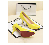 Sweet candy color women's pumps high quality high heels shoes pointed toe wedding shoes party shoes comfortable shoes