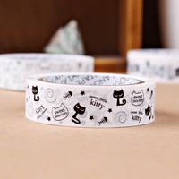 Diy photo album black-and-white cartoon adhesive tape decoration decorative pattern cartoon sticky tape for scrapbooking