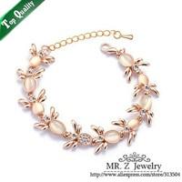 Free Shipping Beautiful Lovely Opal Little Bee Bracelet For Women Fashion Jewelry 5pcs/lot