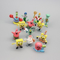 Retail Cartoon Action Figures Spongebob Family Toy Doll 13pices/set Spongebob Collection Pvc toy Free Shipping