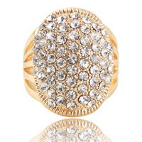 Promotion! Wholesale! Fashion lady women jewelry elegant high quality sparkling full rhinestone luxury alloy finger ring SR336