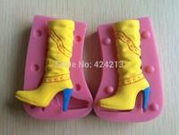 Ladies Bootsmold mould,silicone cake tools fondant cake design mold,silicone gumpaste art mold,baking tools -P106