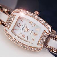 2014 new rhinestone casual female wristwatches bracelet ladies fashion steel strap women wrist dress quartz watch high gift