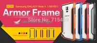 Free shipping 5pcs original Nillkin PC TPU Armor Fram for Samsung GALAXY Note 4 N9100 Armor Border series +retail box