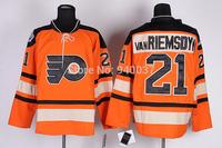 Free Shipping Cheap Discount Authentic Philadelphia Flyers Ice Hockey Jerseys #21 Van Riemsdyk Jersey Wholesale Mixed Order