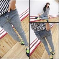 Plus size S-L New 2015 Women's Pants Fashion Pencil Pants Leggings Stonewash Denim Skinny Stretchable Faux Jeans Free shipping