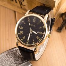 LZ Jewelry Hut WT011 2014 New Fashion Design 5 Colors Leather Strap Men Top Brand Luxury Complete Calendar Quartz Watch