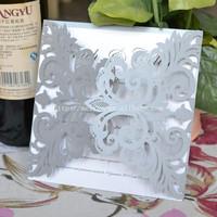 100pcs /lot silver laser cut wedding invitations , invitation cards for wedding , latest wedding card designs