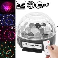6 Channel DMX512 Control Digital LED RGB Crystal Magic Ball Effect Light DMX Disco DJ Stage Lighting Built-in Loud Speaker