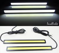 1pair/17cm Ultra-thin 9W COB Chip New update LED Daytime Running Light LED DIY DRL Fog car lights car day running lights