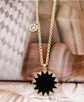 Min. order 9usd (mix order)Bright goddess rhinestone black drip long necklace female long sweater chain wholesale
