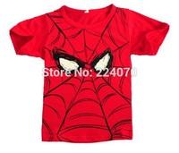 Spider man children kids baby t shirt boys girls t shirt summer cotton child baby t shirt 2-6years old free shipping